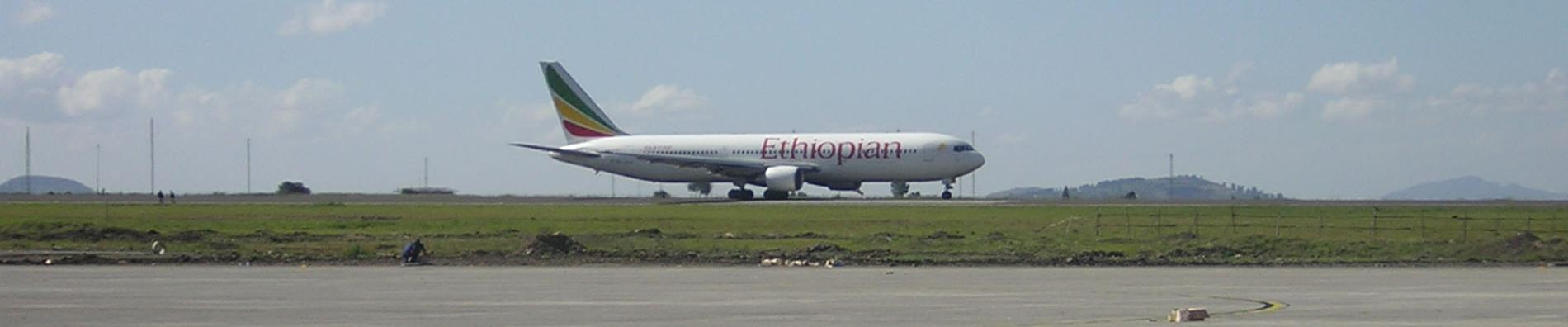 Ethiopian-Airlines Flugzeug in Addis Abeba